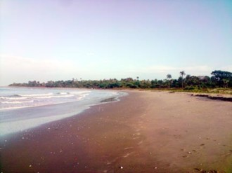 A deserted beach in Southern Gambia
